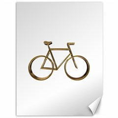 Elegant Gold Look Bicycle Cycling  Canvas 36  X 48