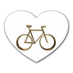 Elegant Gold Look Bicycle Cycling  Heart Mousepads