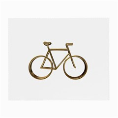 Elegant Gold Look Bicycle Cycling  Small Glasses Cloth (2 Side)