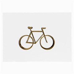 Elegant Gold Look Bicycle Cycling  Large Glasses Cloth (2 Side)