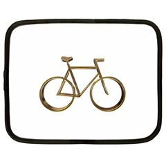 Elegant Gold Look Bicycle Cycling  Netbook Case (large)