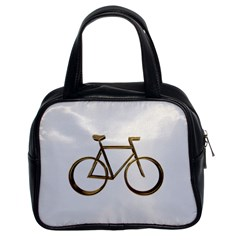 Elegant Gold Look Bicycle Cycling  Classic Handbags (2 Sides)