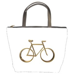 Elegant Gold Look Bicycle Cycling  Bucket Bags