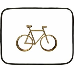 Elegant Gold Look Bicycle Cycling  Double Sided Fleece Blanket (mini)