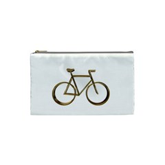 Elegant Gold Look Bicycle Cycling  Cosmetic Bag (small)