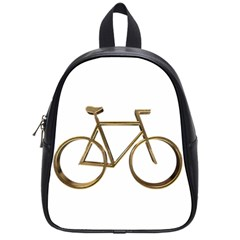 Elegant Gold Look Bicycle Cycling  School Bags (small)