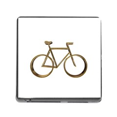 Elegant Gold Look Bicycle Cycling  Memory Card Reader (square)