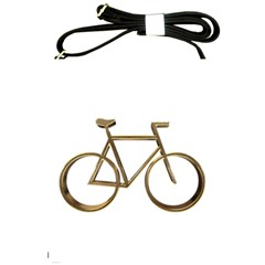 Elegant Gold Look Bicycle Cycling  Shoulder Sling Bags