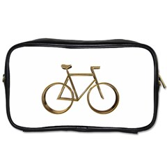 Elegant Gold Look Bicycle Cycling  Toiletries Bags
