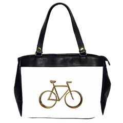 Elegant Gold Look Bicycle Cycling  Office Handbags (2 Sides)