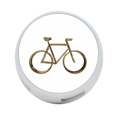Elegant Gold Look Bicycle Cycling  4 Port Usb Hub (two Sides)