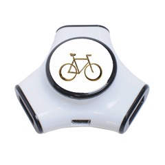 Elegant Gold Look Bicycle Cycling  3 Port Usb Hub