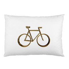 Elegant Gold Look Bicycle Cycling  Pillow Case (two Sides)