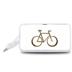 Elegant Gold Look Bicycle Cycling  Portable Speaker (white)