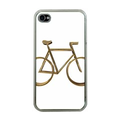 Elegant Gold Look Bicycle Cycling  Apple Iphone 4 Case (clear)