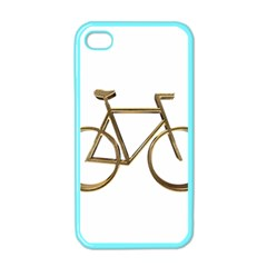 Elegant Gold Look Bicycle Cycling  Apple Iphone 4 Case (color)