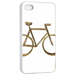 Elegant Gold Look Bicycle Cycling  Apple Iphone 4/4s Seamless Case (white)