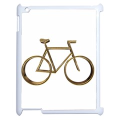 Elegant Gold Look Bicycle Cycling  Apple Ipad 2 Case (white)