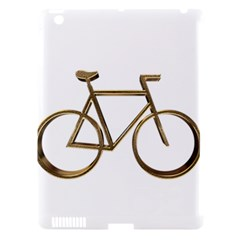 Elegant Gold Look Bicycle Cycling  Apple Ipad 3/4 Hardshell Case (compatible With Smart Cover)