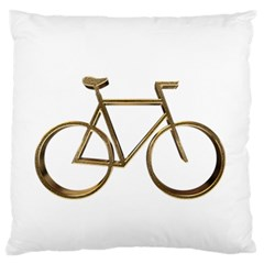 Elegant Gold Look Bicycle Cycling  Large Cushion Case (one Side)