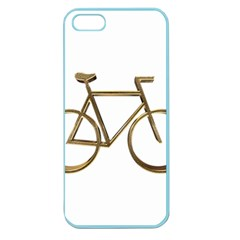 Elegant Gold Look Bicycle Cycling  Apple Seamless Iphone 5 Case (color)