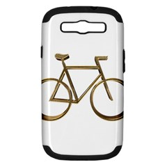 Elegant Gold Look Bicycle Cycling  Samsung Galaxy S Iii Hardshell Case (pc+silicone)