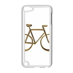 Elegant Gold Look Bicycle Cycling  Apple Ipod Touch 5 Case (white)
