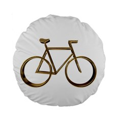 Elegant Gold Look Bicycle Cycling  Standard 15  Premium Round Cushions