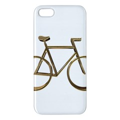Elegant Gold Look Bicycle Cycling  Apple Iphone 5 Premium Hardshell Case