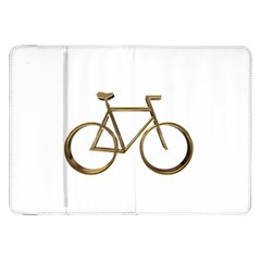 Elegant Gold Look Bicycle Cycling  Samsung Galaxy Tab 8 9  P7300 Flip Case