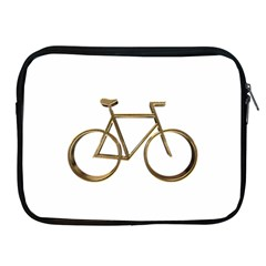Elegant Gold Look Bicycle Cycling  Apple Ipad 2/3/4 Zipper Cases