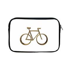 Elegant Gold Look Bicycle Cycling  Apple Ipad Mini Zipper Cases