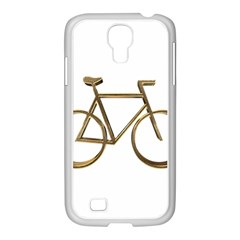 Elegant Gold Look Bicycle Cycling  Samsung Galaxy S4 I9500/ I9505 Case (white)