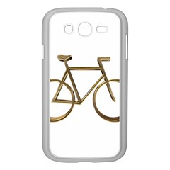 Elegant Gold Look Bicycle Cycling  Samsung Galaxy Grand Duos I9082 Case (white)