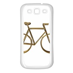 Elegant Gold Look Bicycle Cycling  Samsung Galaxy S3 Back Case (white)