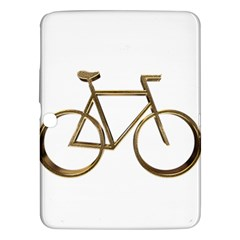 Elegant Gold Look Bicycle Cycling  Samsung Galaxy Tab 3 (10 1 ) P5200 Hardshell Case