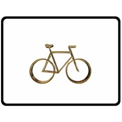 Elegant Gold Look Bicycle Cycling  Double Sided Fleece Blanket (large)