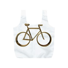 Elegant Gold Look Bicycle Cycling  Full Print Recycle Bags (s)