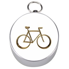 Elegant Gold Look Bicycle Cycling  Silver Compasses