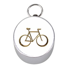 Elegant Gold Look Bicycle Cycling  Mini Silver Compasses