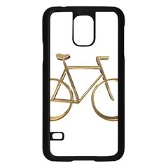 Elegant Gold Look Bicycle Cycling  Samsung Galaxy S5 Case (black)