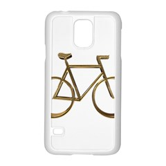Elegant Gold Look Bicycle Cycling  Samsung Galaxy S5 Case (white)