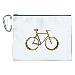 Elegant Gold Look Bicycle Cycling  Canvas Cosmetic Bag (xxl)