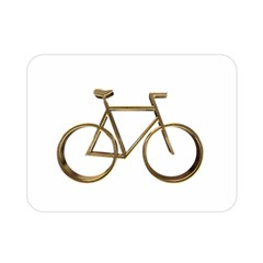 Elegant Gold Look Bicycle Cycling  Double Sided Flano Blanket (mini)