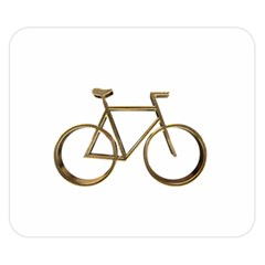 Elegant Gold Look Bicycle Cycling  Double Sided Flano Blanket (small)