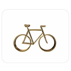 Elegant Gold Look Bicycle Cycling  Double Sided Flano Blanket (medium)
