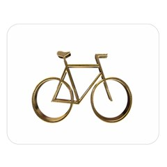 Elegant Gold Look Bicycle Cycling  Double Sided Flano Blanket (large)