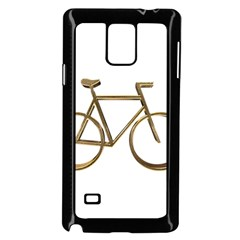 Elegant Gold Look Bicycle Cycling  Samsung Galaxy Note 4 Case (black)
