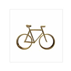 Elegant Gold Look Bicycle Cycling  Small Satin Scarf (square)