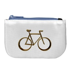 Elegant Gold Look Bicycle Cycling  Large Coin Purse